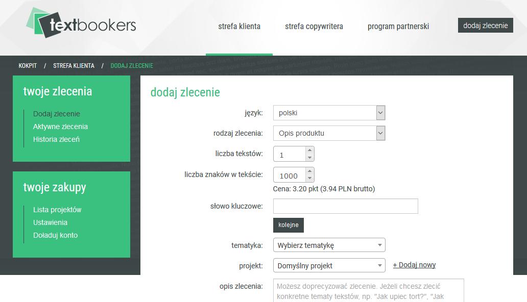 Textbookers - serwis do współpracy z copywriterami